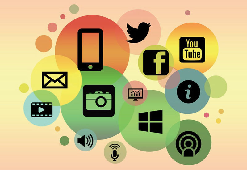 communications icons graphic